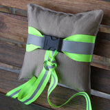 Firefighter BLACK Ring Bearer Pillow