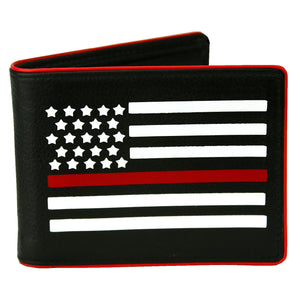 Thin Red Line of Courage Firefighter Bi-fold Wallet