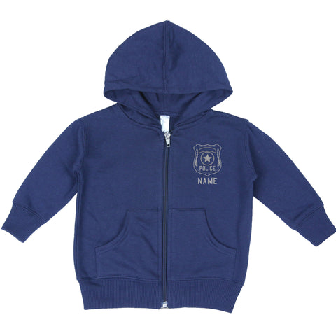 Police Toddler Zip-Up Hoodie