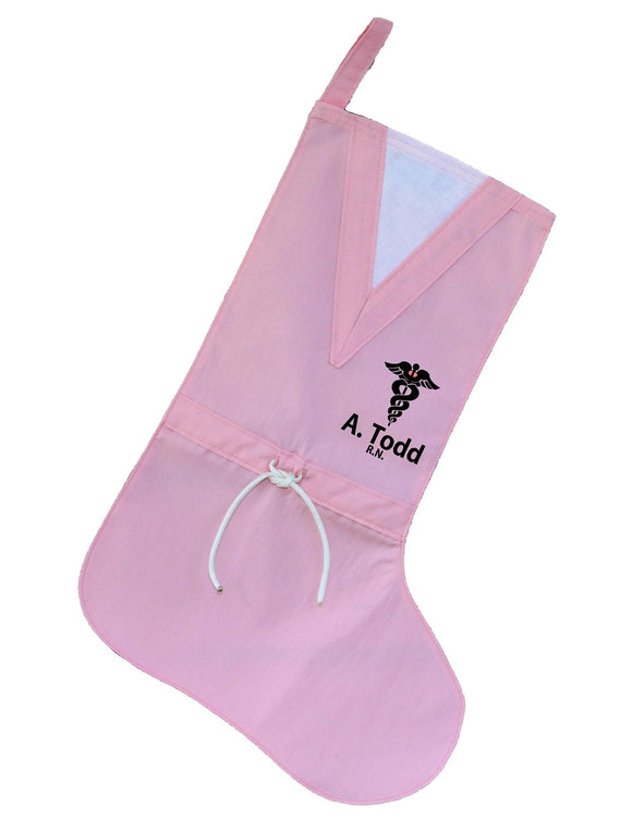 Medical Personalized Pink Scrubs Stocking