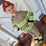 Firefighter Personalized TAN 3-Piece Toddler Outfit