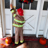 Personalized Toddler Firefighter FULL TAN Outfit 3-Piece Set