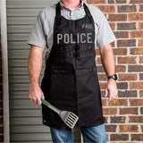 Police Personalized Black Apron