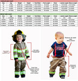 Firefighter Personalized BLACK 4T Toddler 2-Piece Outfit with ORANGE Reflective
