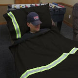 Firefighter BLACK Station Pillow Case