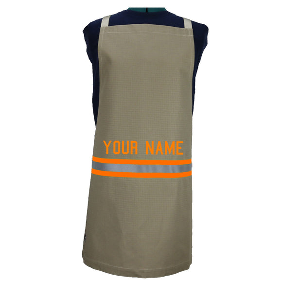 Firefighter TAN Apron with RED/ORANGE Refector