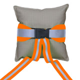 Firefighter TAN Ring Bearer Pillow with ORANGE Reflective