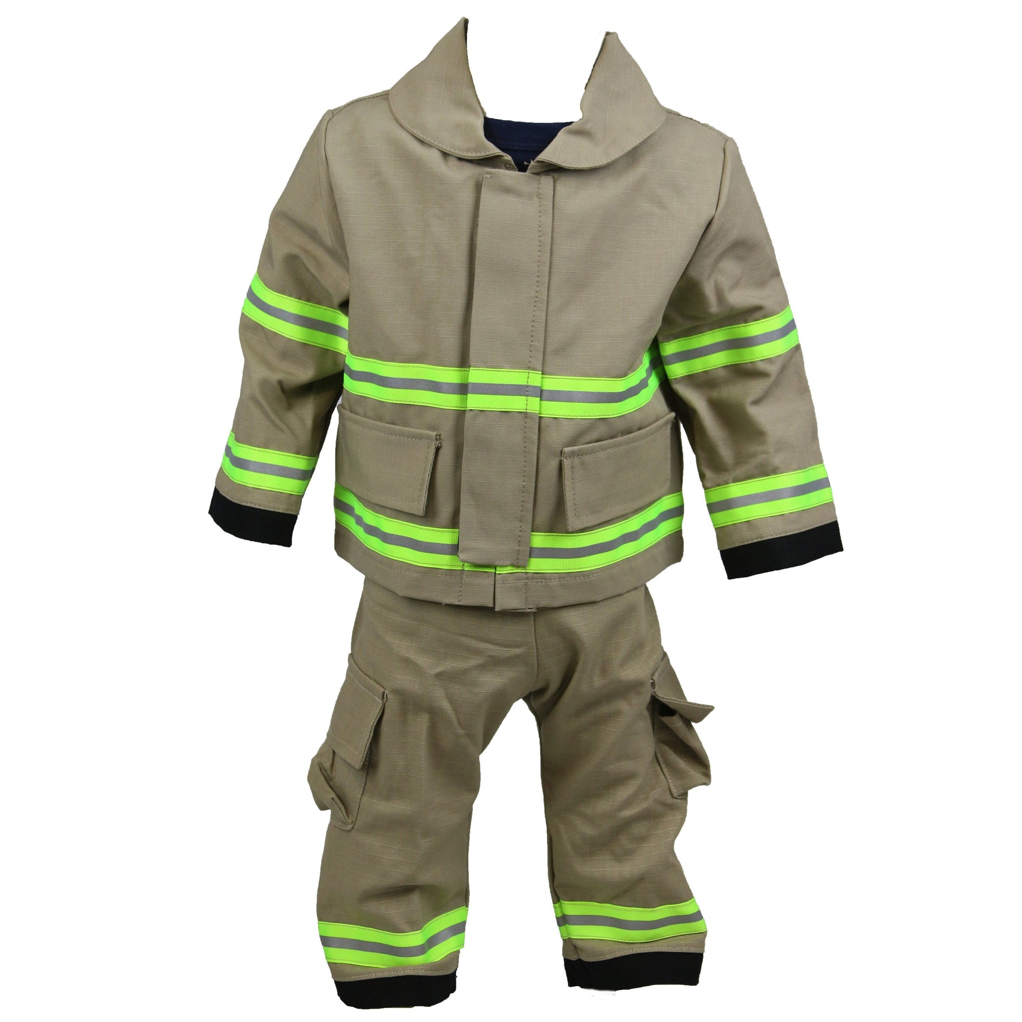 Personalized Baby Firefighter FULL TAN Outfit 3-Piece Set