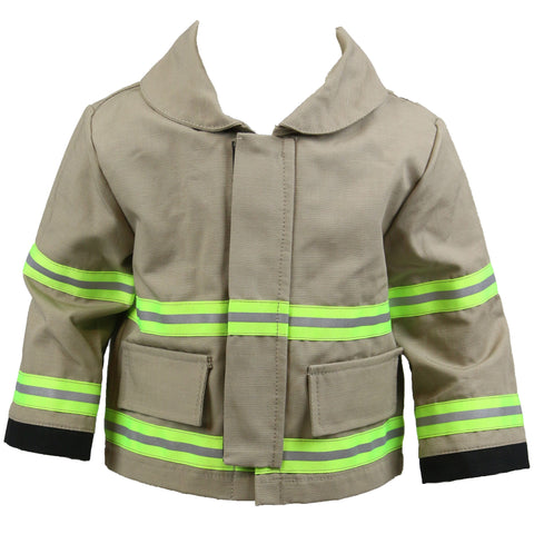 Firefighter Baby TAN Jacket with Name on Back (JACKET ONLY)