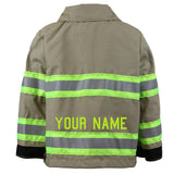 Firefighter Toddler TAN Jacket with Name on Back (JACKET ONLY)