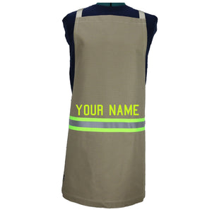 Firefighter TAN Apron with LIME/YELLOW Reflector