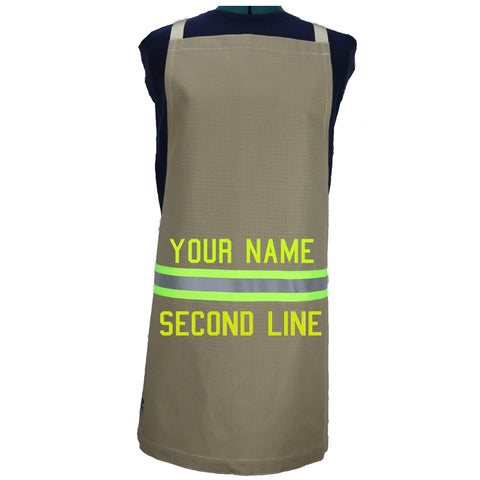 Firefighter Apron TWO Line Personalization