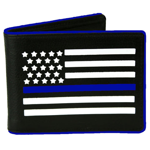 Thin BLUE Line of Courage Police Bi-fold Wallet