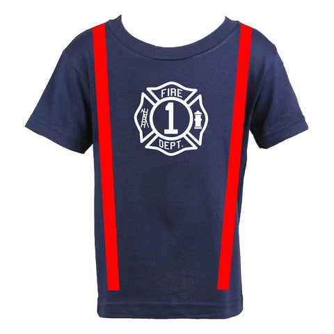 Personalized Firefighter Birthday Toddler Shirt