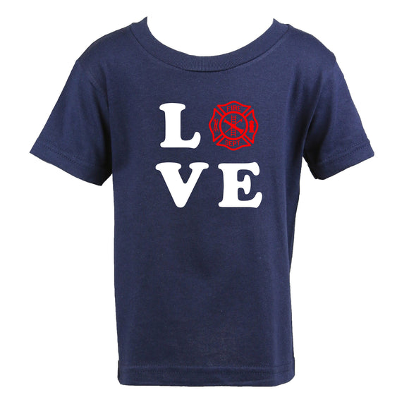 Personalized Firefighter LOVE Toddler Shirt