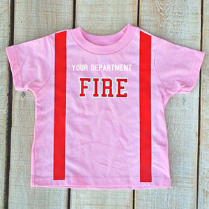 Firefighter Personalized PINK Toddler Shirt (SHIRT ONLY)
