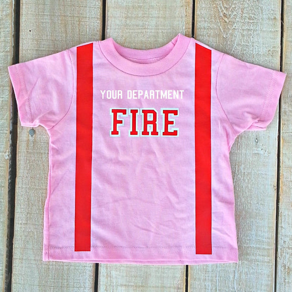 Firefighter Personalized Toddler PINK Shirt (SHIRT ONLY)