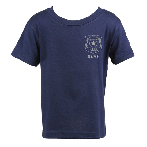 Personalized Police Toddler Shirt with Badge