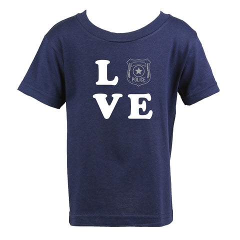 Personalized Police Toddler LOVE Shirt with Badge