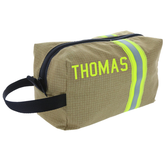 Firefighter Personalized TAN Toiletry Bag
