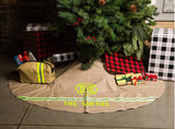 Firefighter Personalized TAN Tree Skirt