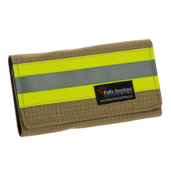 Firefighter TAN Women's Wallet Made From Turnout Bunker Gear