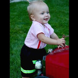 Firefighter Personalized BLACK 2-Piece Baby Outfit with Skirt