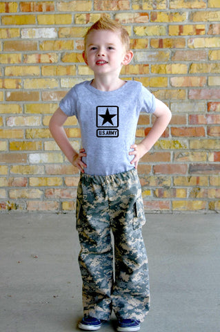 Personalized Toddler Military Camo 2-Piece Outfit