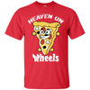 GeekBuds Heaven On Wheels Skateboarding Pizza T-Shirt