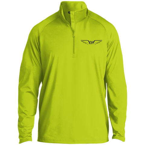 Emerald Hawk Half Zip Raglan Performance Pullover