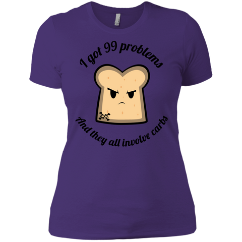 99 Problems And They Are ALL Carbs Ladies' Boyfriend Tee
