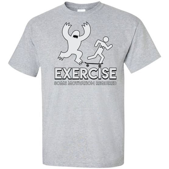 Monster Motivation Exercise Custom Tall Ultra Cotton T-Shirt
