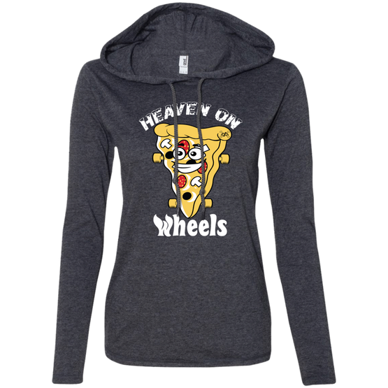 GeekBuds Heaven On Wheels Womens LS T-Shirt Hoodie