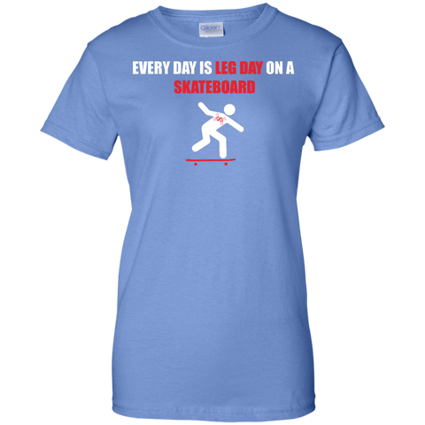 GeekBuds Every Day Is Leg Day Women Custom 100% Cotton T-Shirt