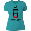 GeekBuds Need Coffee Womens Boyfriend Tee