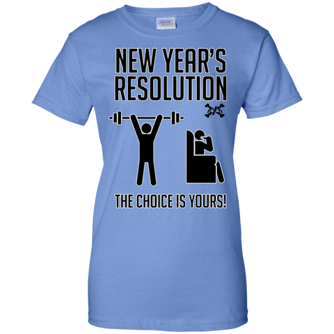 A New Year A New Choice, New Years Resolution Ladies Custom 100% Cotton T-Shirt