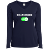 GeekBuds SkateMode ON! Womens Long Sleeve Performance Vneck
