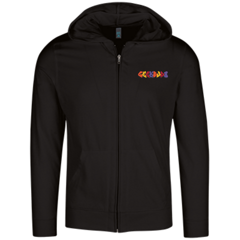 GeekBuds Skateboarding Womens Lightweight Full Zip Hoodie