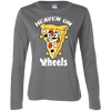 GeekBuds Heaven On Wheels Pizza Skateboard Womens Long Sleeve TShirt