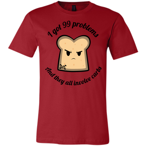 99 Problems And They Are ALL Carbs Jersey Short-Sleeve T-Shirt
