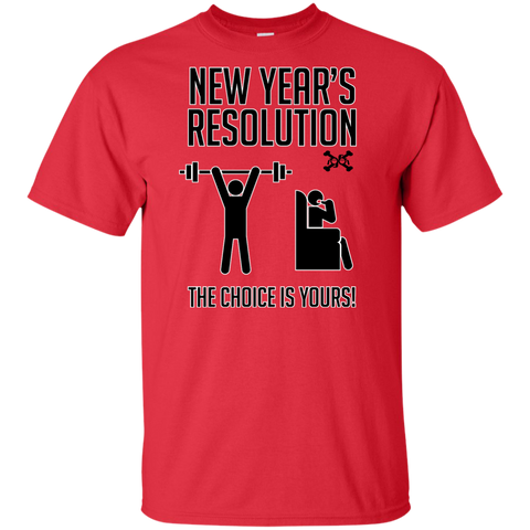 A New Year A New Choice, New Years Resolution Tall Ultra Cotton T-Shirt