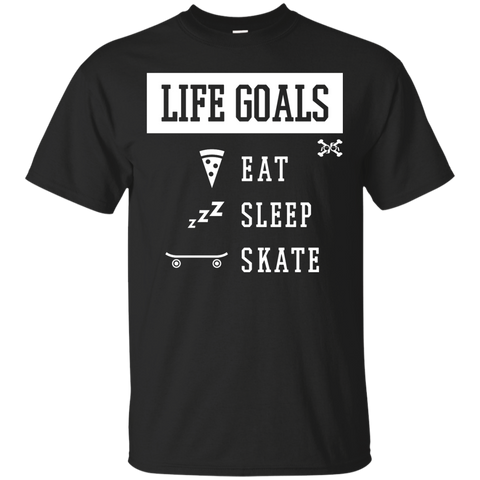 Eat, Sleep, Skate, Life Goals Custom Ultra Cotton T-Shirt