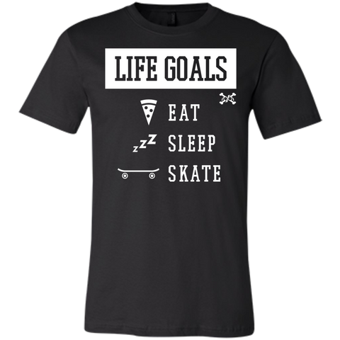 Eat, Sleep, Skate, Life Goals Jersey Short-Sleeve T-Shirt