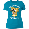 GeekBuds Heaven On Wheels Womens Boyfriend Tee
