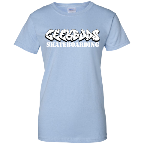 GeekBuds Skateboarding Womens Custom 100% Cotton T-Shirt