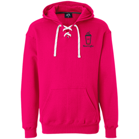 GeekBuds Need Coffee Womens Heavyweight Sport Lace Hoody
