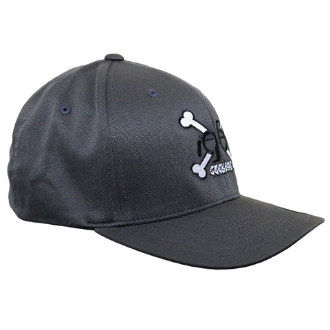 Geek Buds Crossbones logo flexfit Hat-Gray