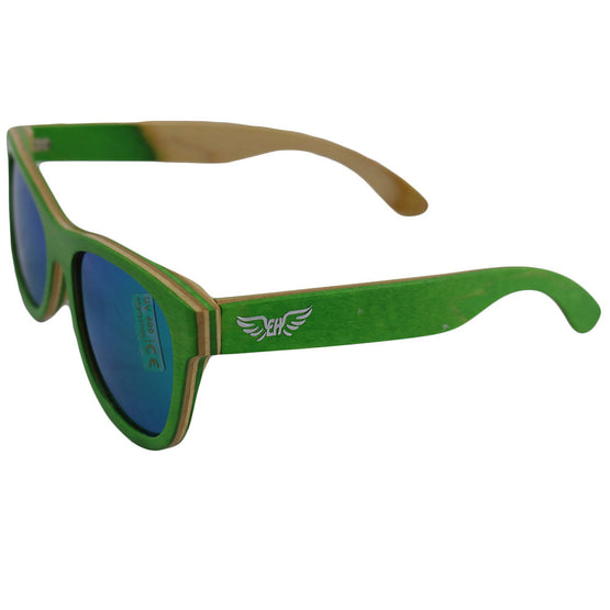Emerald Hawk Green Handmade Bamboo Sunglasses