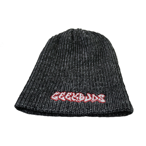 Gray Stretch Geekbuds Logo Beanie