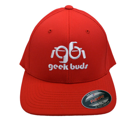 Flexfit Geek Buds Hat-Red - GeekBuds LLC